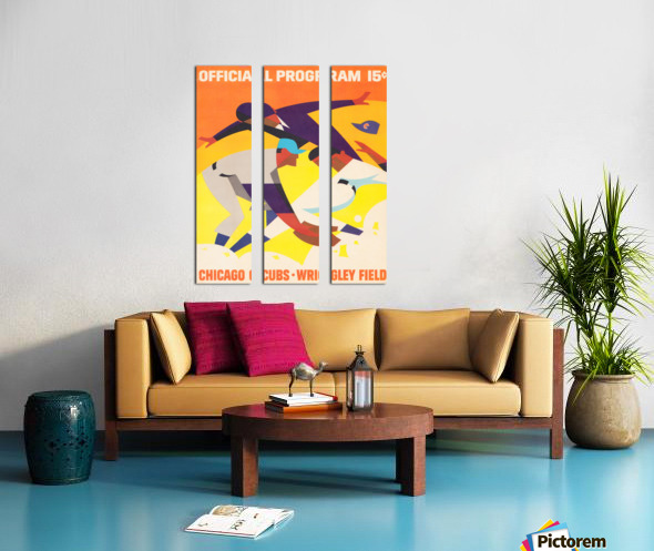 1967 Chicago Cubs Program Split Canvas print