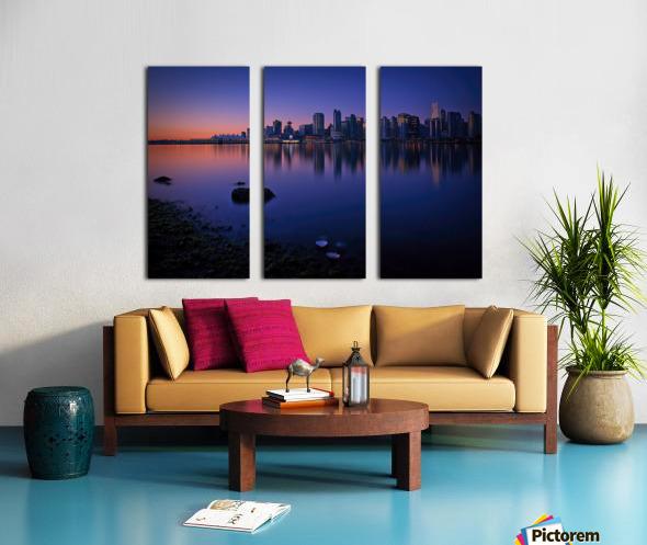 Vancouver Skyline Split Canvas print