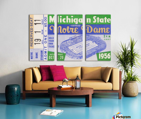 1956 Michigan State vs. Notre Dame Split Canvas print