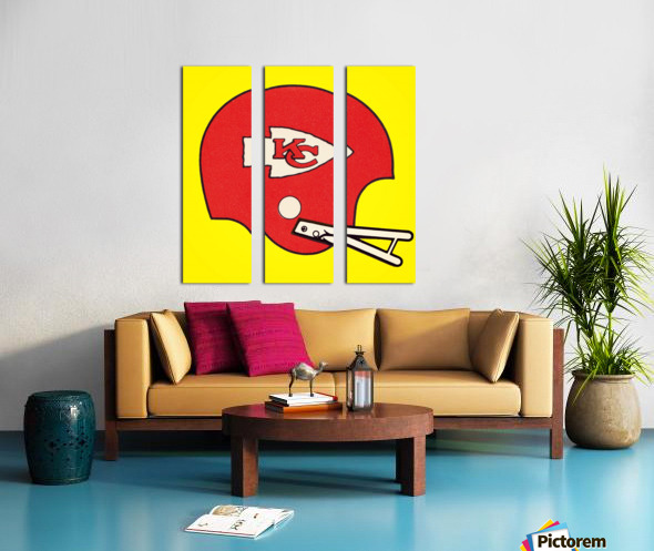1982 Kansas City Chiefs Helmet Art Split Canvas print