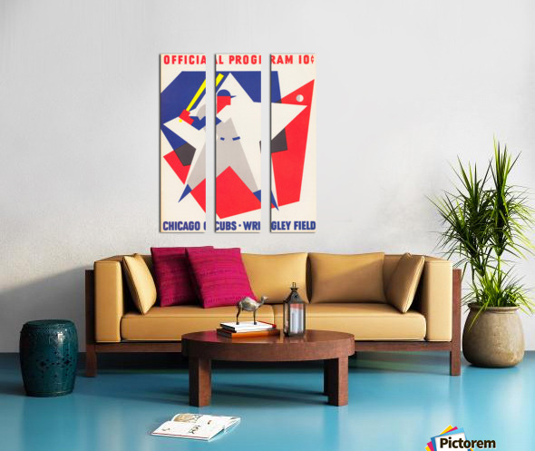 1964 Chicago Cubs Scorecard Wall Art Split Canvas print