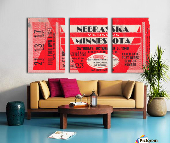 1940 Nebraska vs. Minnesota Split Canvas print