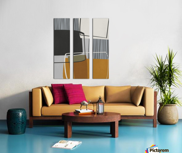 Abstract Composition 1146 Split Canvas print