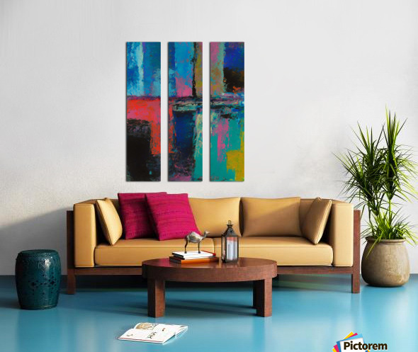 Abstract Composition 1141 Split Canvas print