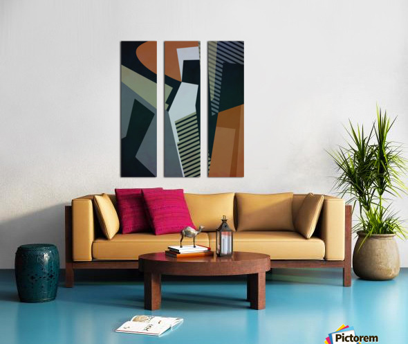 Abstract Composition 1132 Split Canvas print