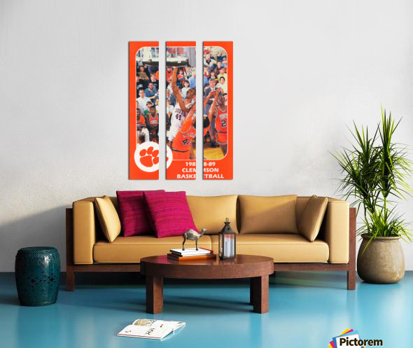 1988 Clemson Tigers Eldon Campbell Split Canvas print