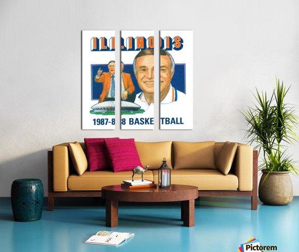 1987 Illinois Basketball Lou Henson Split Canvas print