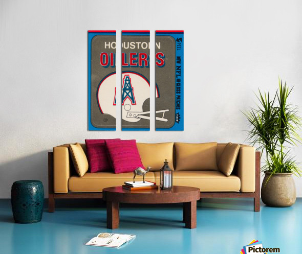 1981 Houston Oilers Helmet Split Canvas print