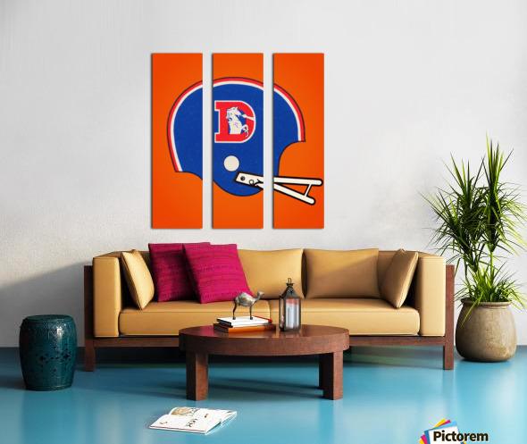 1982 Denver Broncos Football Helmet Art Split Canvas print