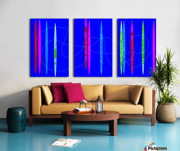 HorizonBlue Split Canvas print