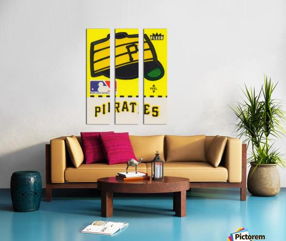 1981 Pittsburgh Pirate Fleer Decal Art Split Canvas print