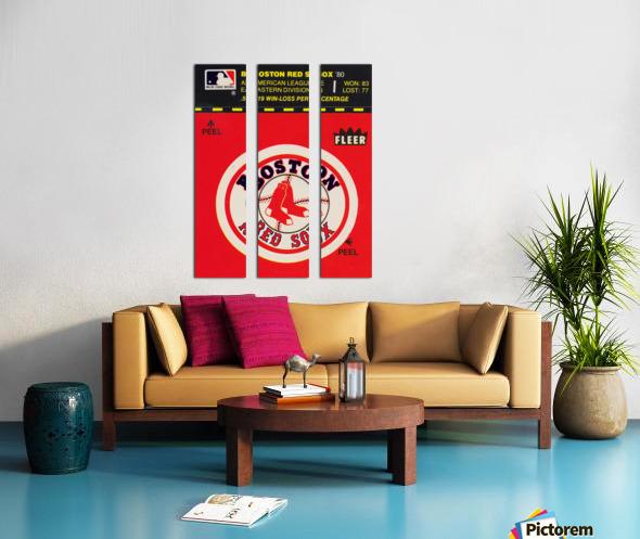 1981 Boston Red Sox Fleer Decal Art Split Canvas print