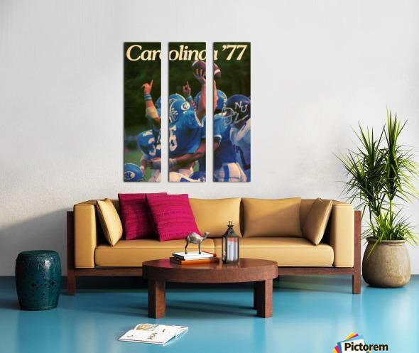 1977 Carolina Football Split Canvas print