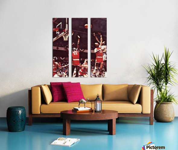 1981 Indiana Basketball Art Split Canvas print