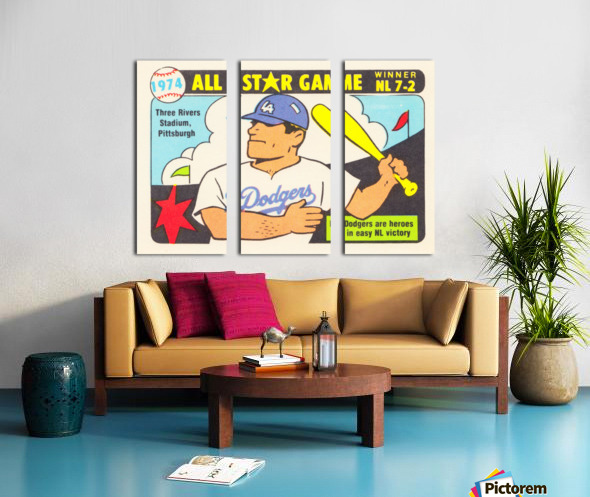 1974 Baseball All-Star Game Split Canvas print