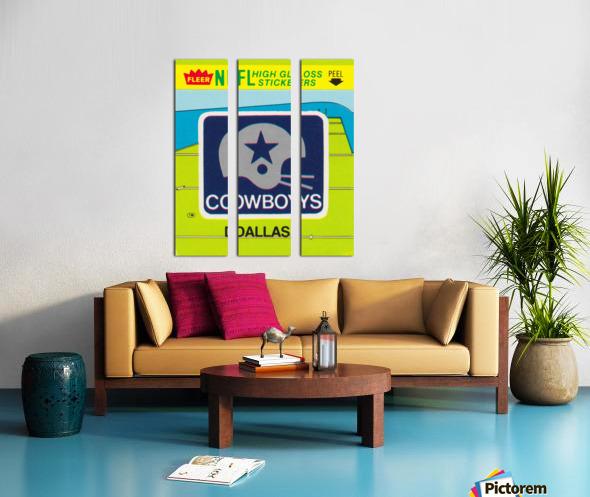 1981 Dallas Cowboys Fleer Decal Art Split Canvas print