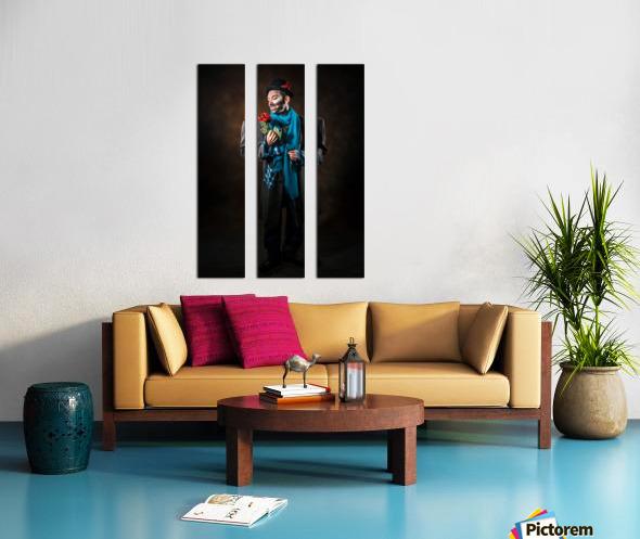 Auguste et rose Split Canvas print
