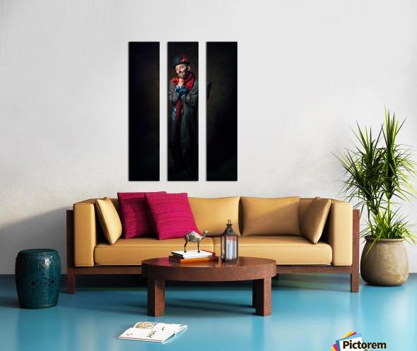 Auguste triste Split Canvas print