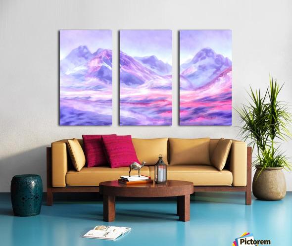 Mount Fairweather Canada Split Canvas print
