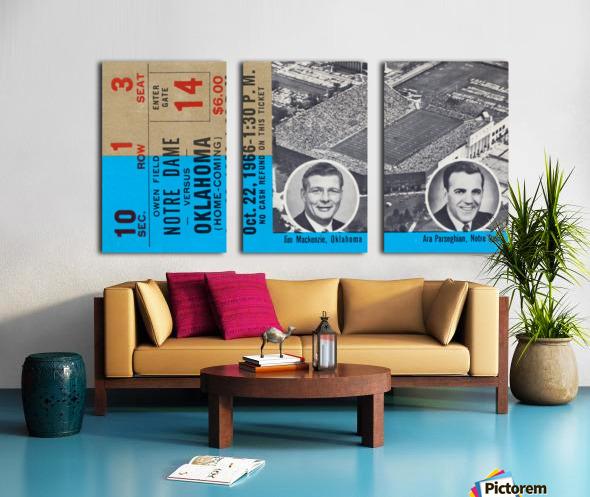 1966 Oklahoma vs. Notre Dame Split Canvas print