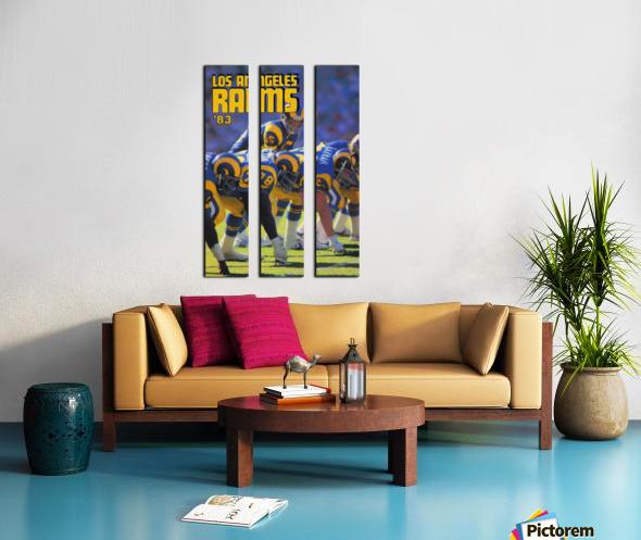1983 Los Angeles Rams Split Canvas print