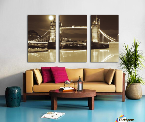 Vintage Tower Bridge - london  Split Canvas print