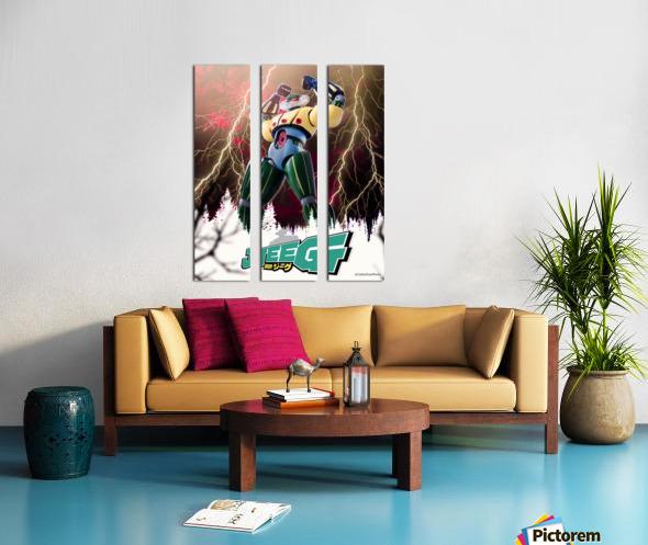 Kotetsu Jeeg - Steel Jeeg Split Canvas print