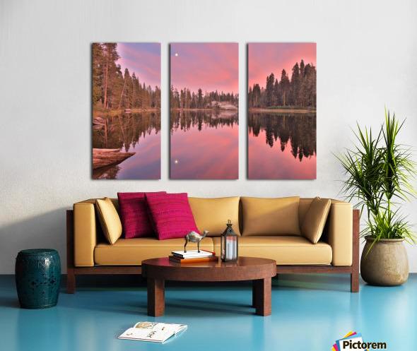 Azalea Sunset Split Canvas print