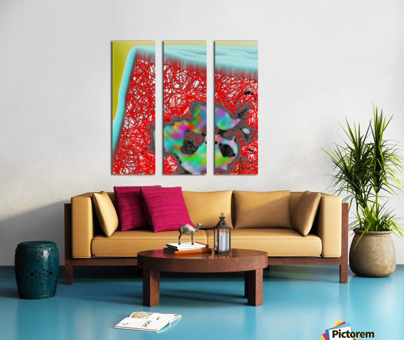 Provokes One to Think of Poinsettias Maybe Split Canvas print