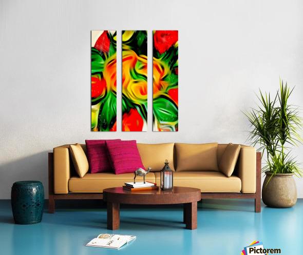 Colour Warriors  Split Canvas print