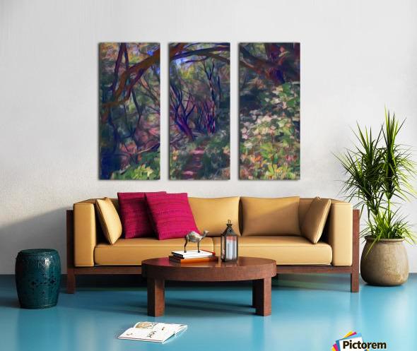 Arch of trees Split Canvas print