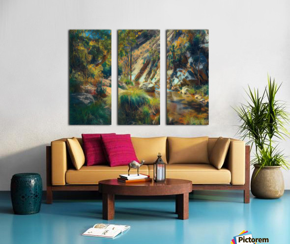 Ojai canyons Split Canvas print