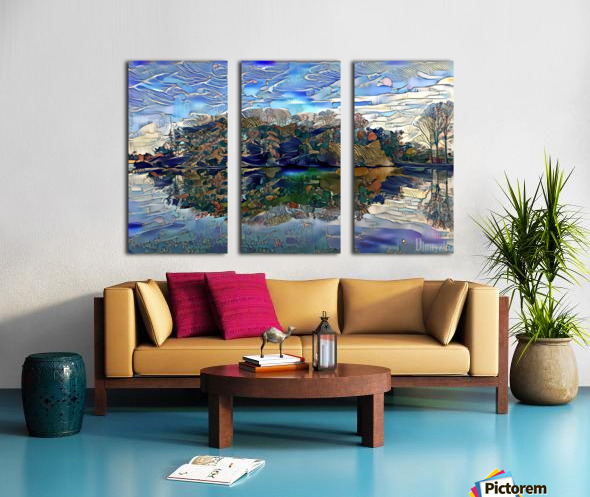 Japanese lake  Split Canvas print