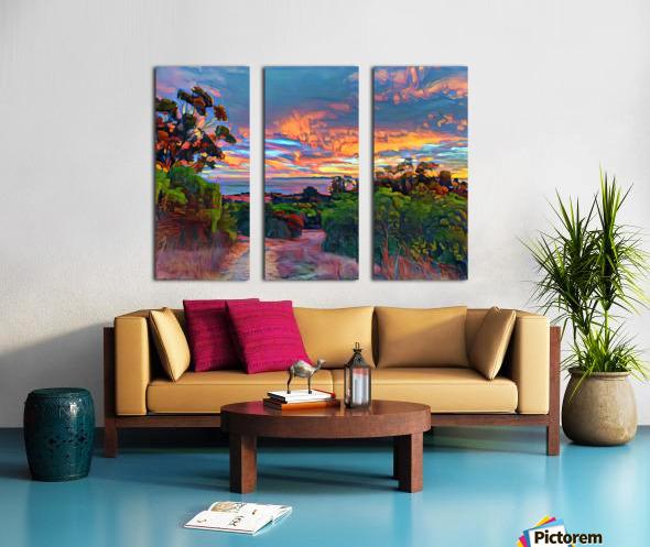 Sunset sky Split Canvas print