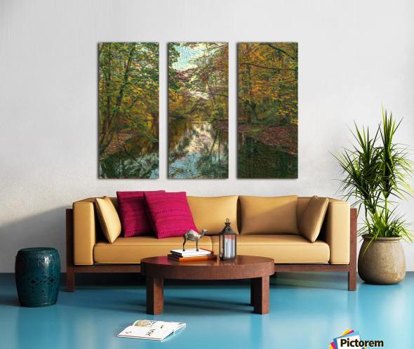 Autumn forrest Split Canvas print