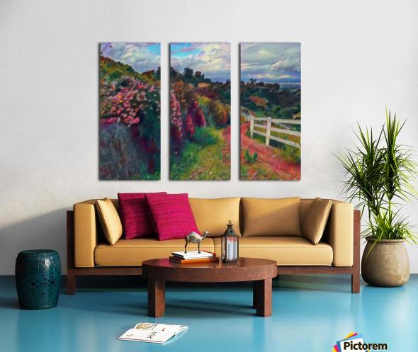 Rollings hills Split Canvas print