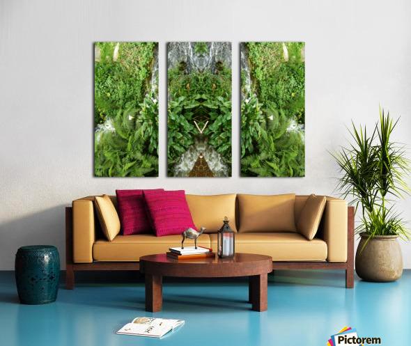 green4 Split Canvas print