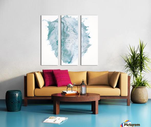 Teal Expressions 03 Split Canvas print