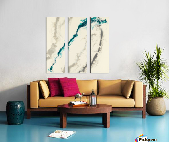 Teal Expressions 04 Split Canvas print