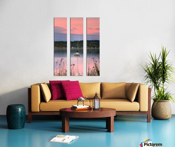 Rosy Retreat  Split Canvas print