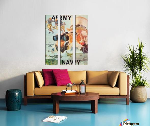 1966 Army vs. Navy Football Program Split Canvas print