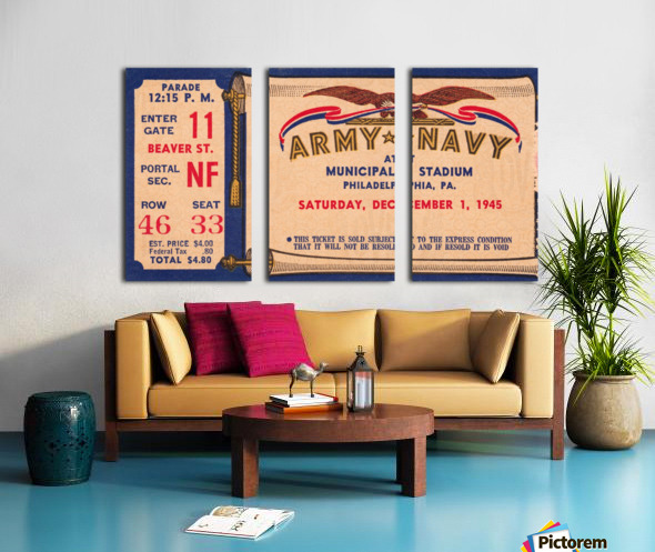 1945 Army Navy Game of the Century Split Canvas print
