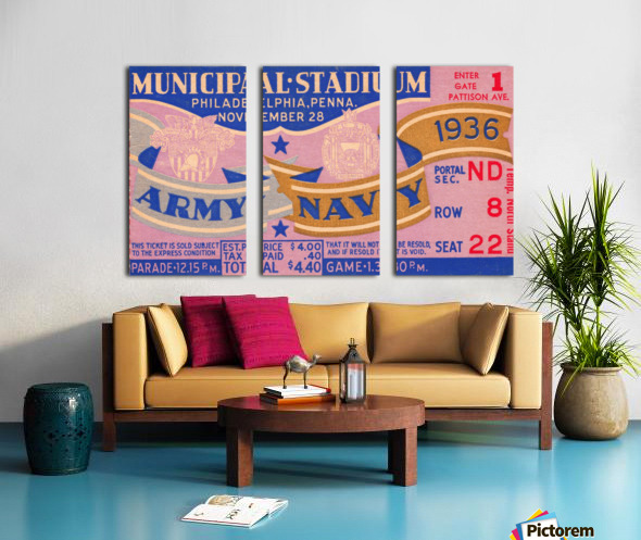 1936 Army Navy Game Split Canvas print