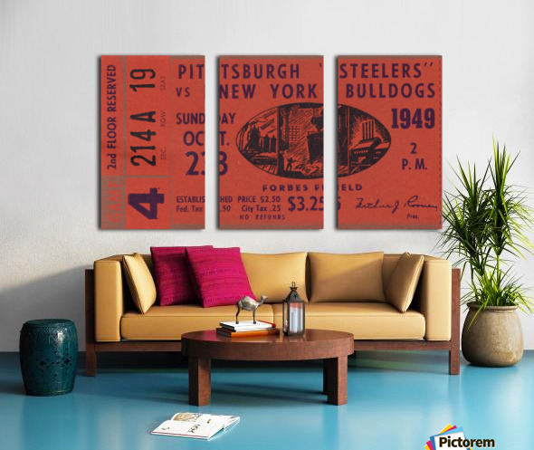 1949 Pittsburgh Steelers vs. New York Bulldogs Split Canvas print