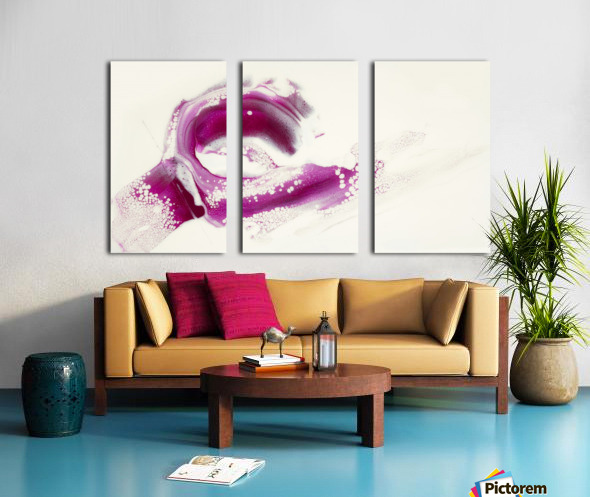 Magenta Sunrise Split Canvas print