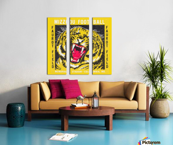 1977 Mizzou Football Split Canvas print