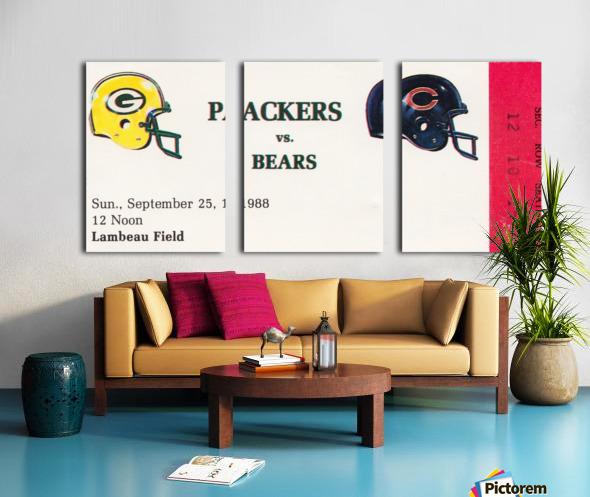 1988 Green Bay Packers vs. Chicago Split Canvas print