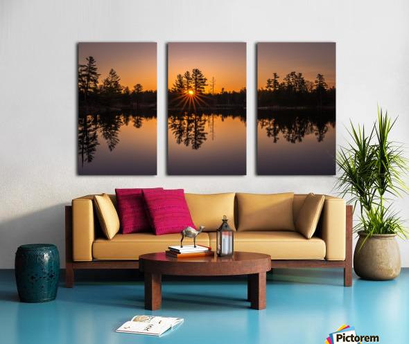 Peek Through Split Canvas print