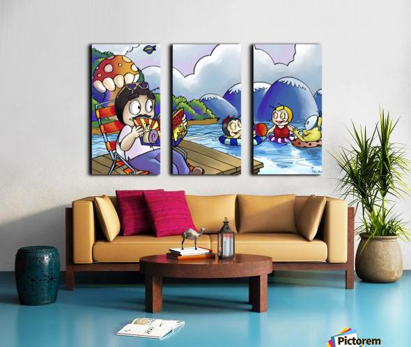A Dream of Summer - Swim Split Canvas print