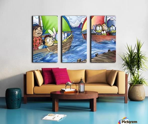 A Dream of Summer - Boats Split Canvas print